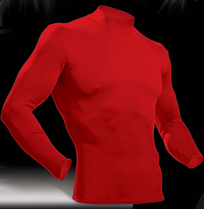 # 20102 HiDef Compression Long Sleeve Mock Neck Tee