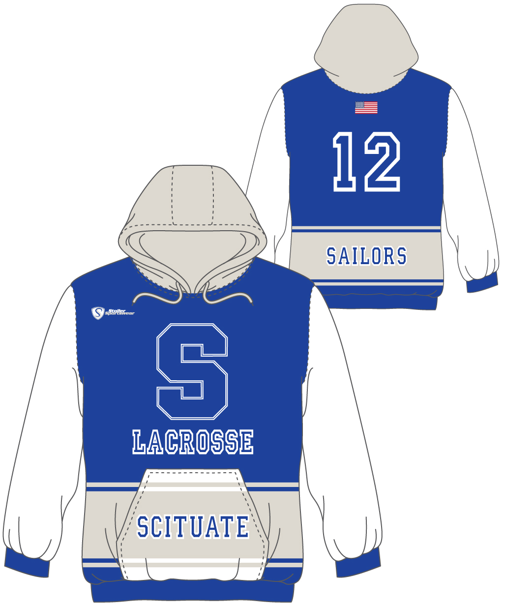 Custom Sublimated Hoodie - Scituate 2