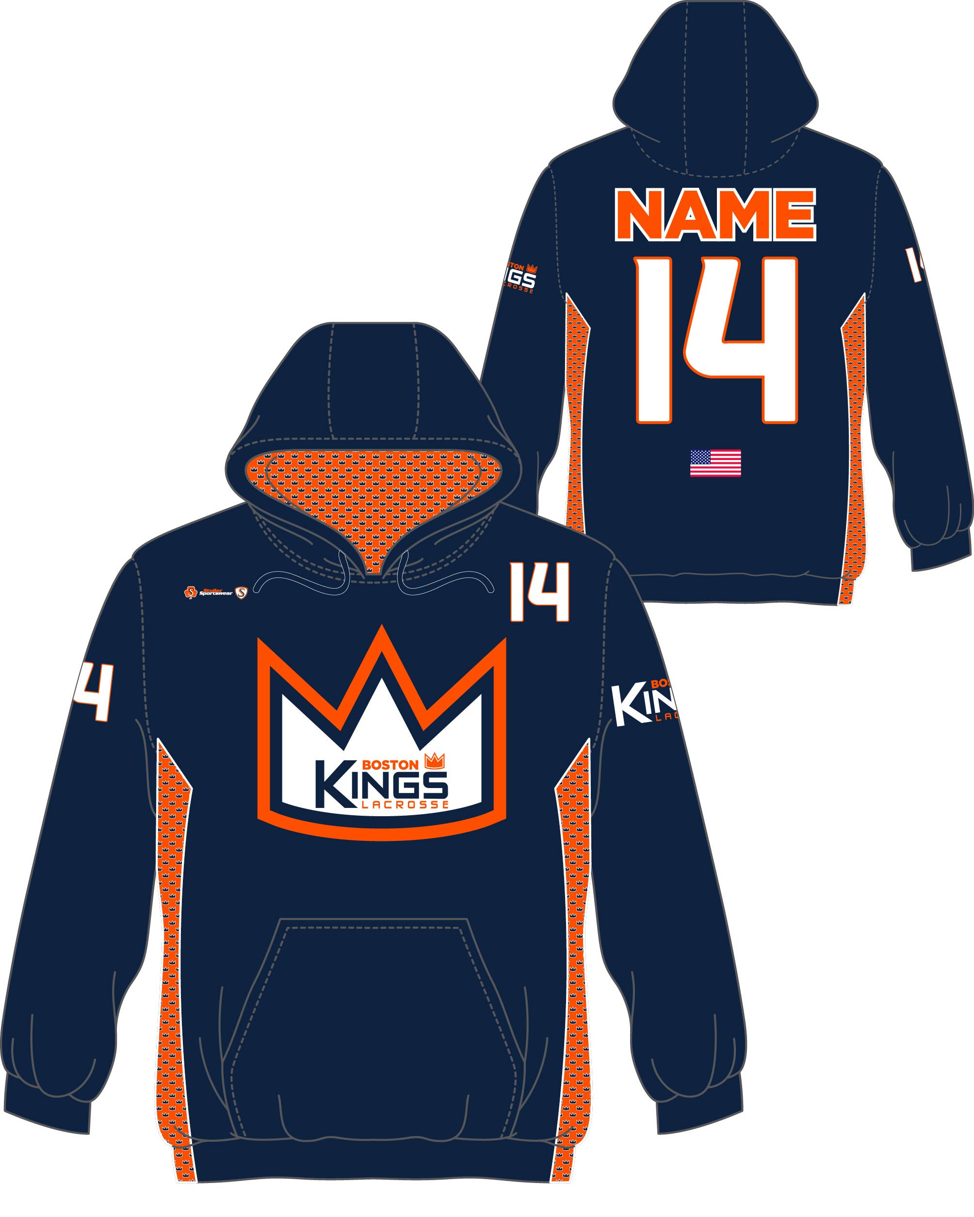Custom Sublimated Hoodie - Boston Kings