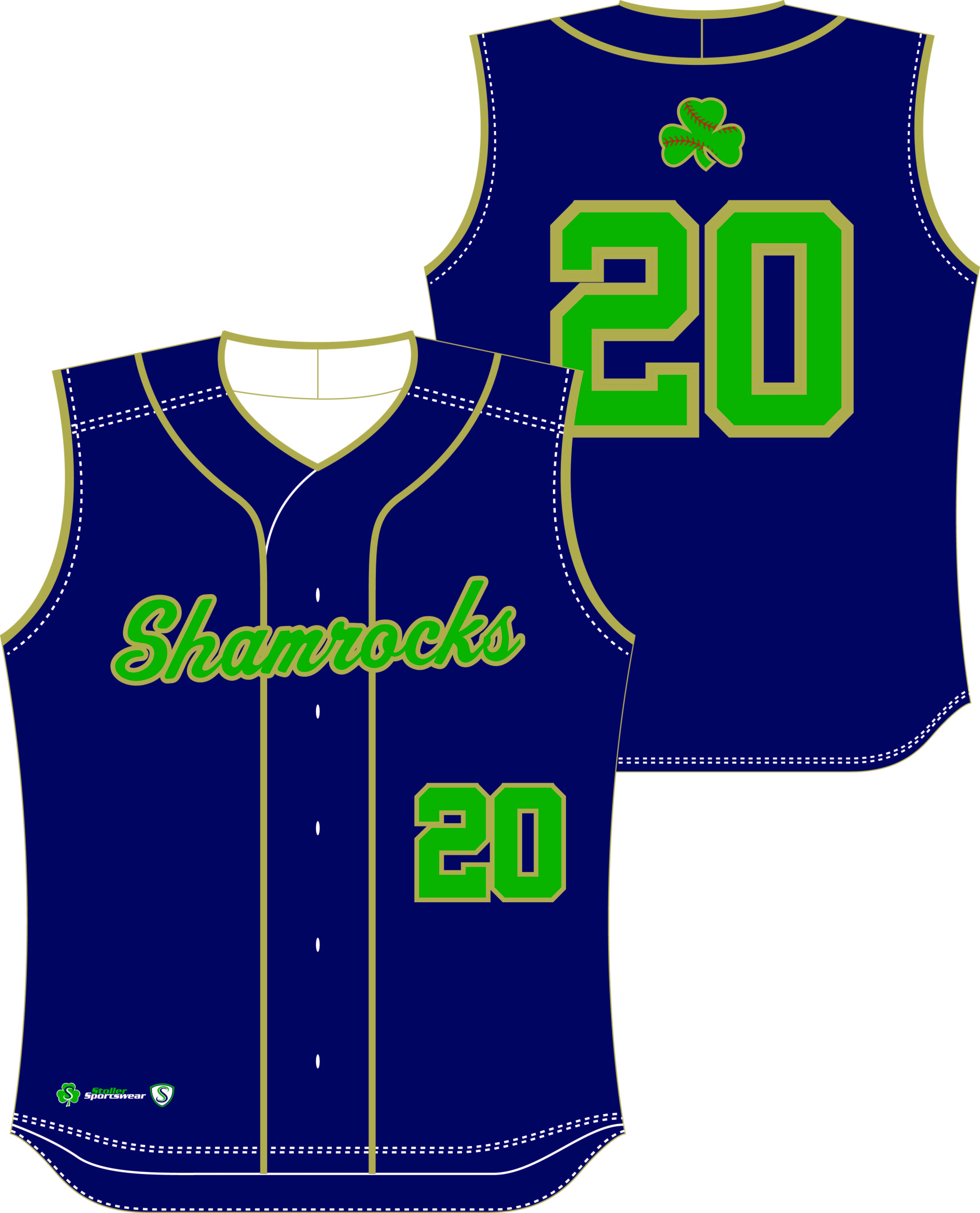 Custom Sublimated Baseball Jersey - Shamrocks