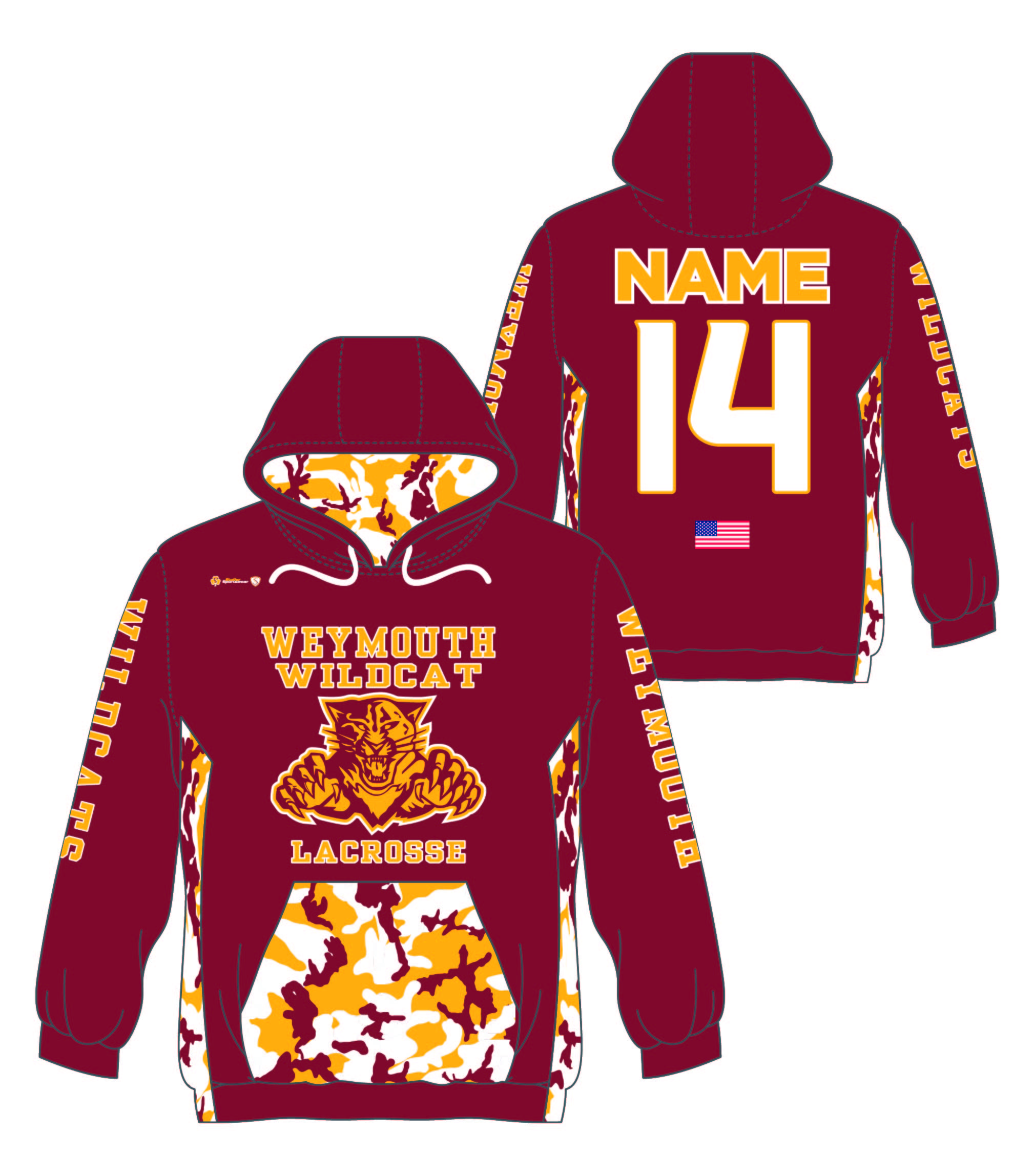 Custom Sublimated Hoodie - Weymouth Lax