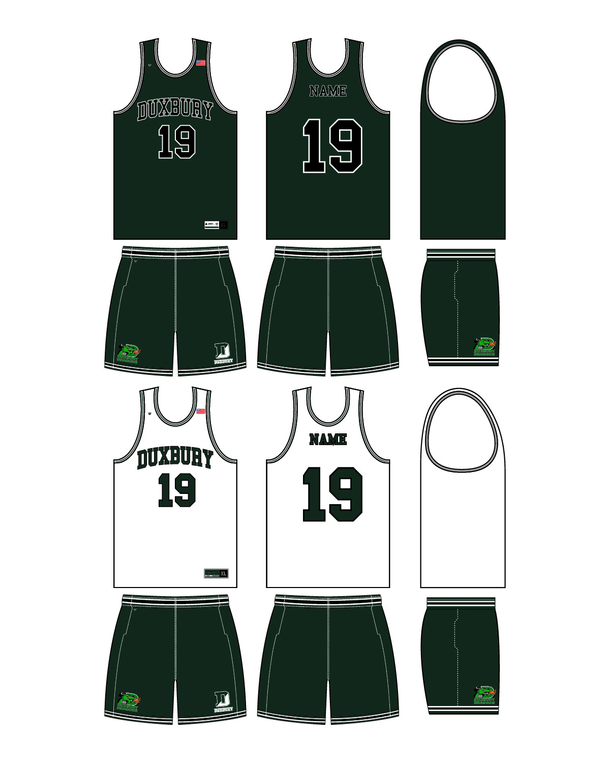 Custom Sublimated Basketball Uniform - Duxbury 2