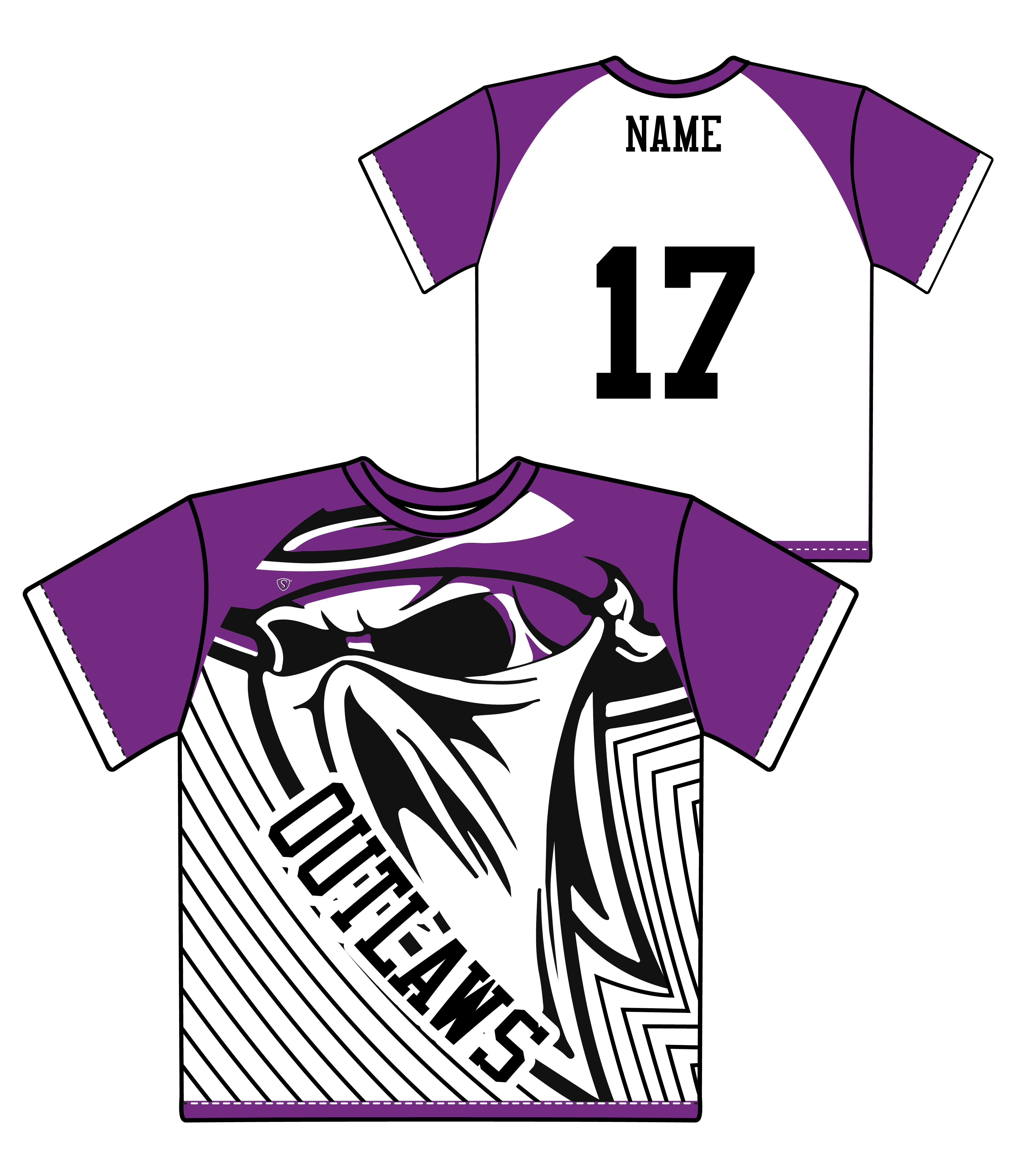 Custom Sublimated Shooter Shirt - Outlaws
