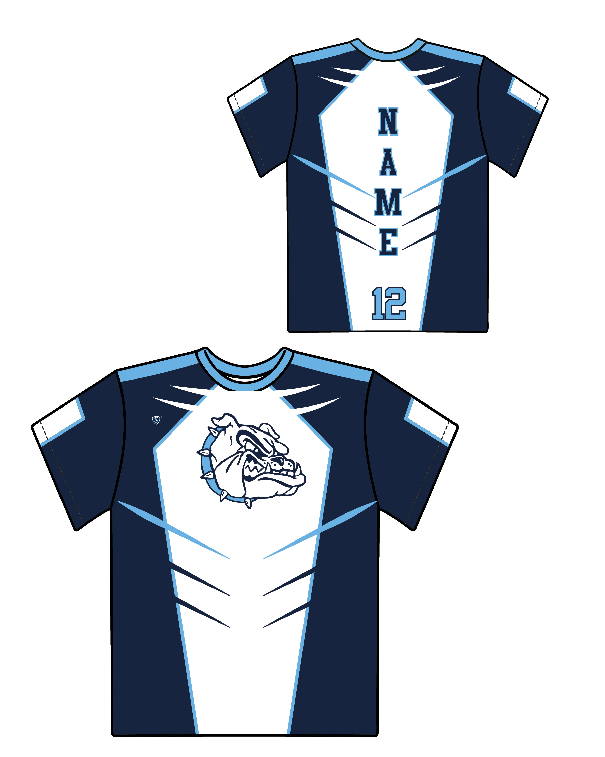 Custom Sublimated Shooter Shirt - Bulldogs 2