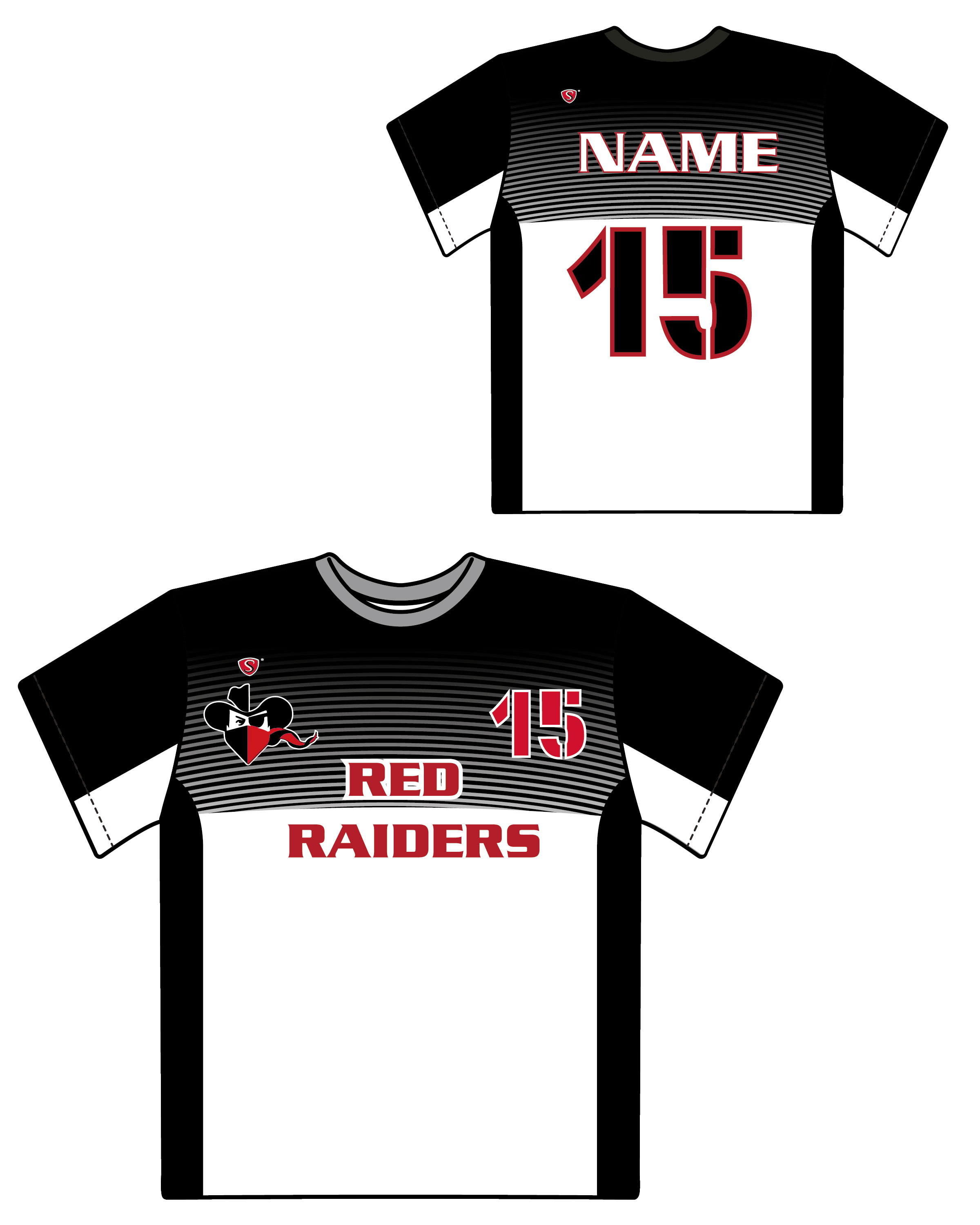 Custom Sublimated Shooter Shirt - Red Raiders