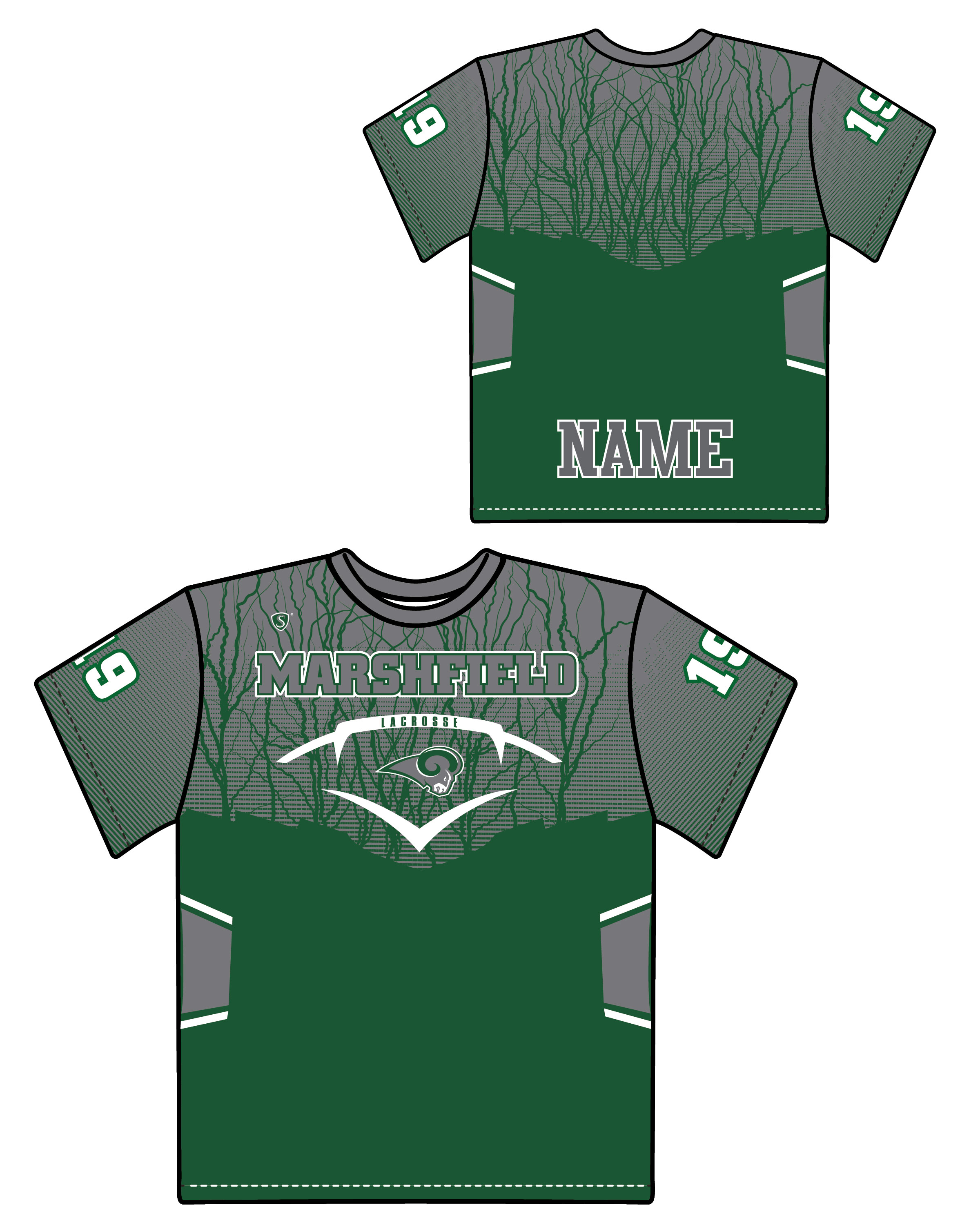 Custom Sublimated Shooter Shirt - Marshfield
