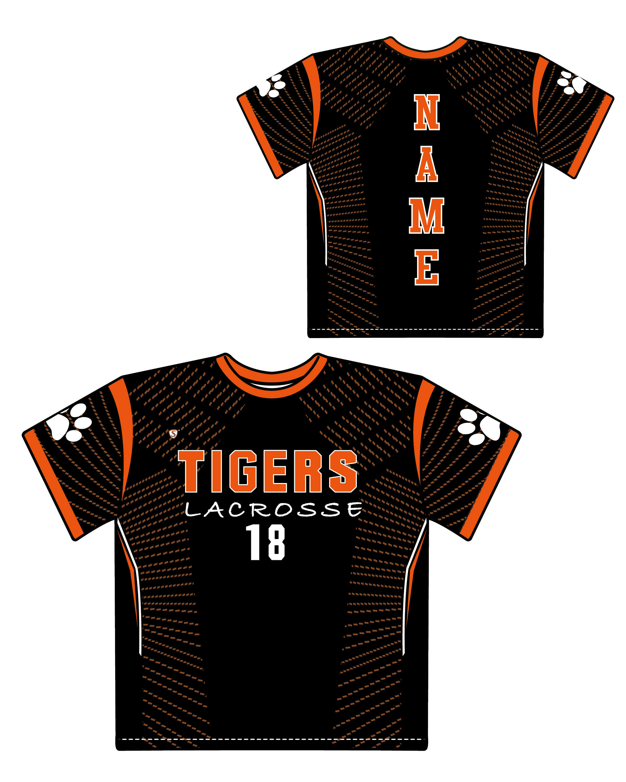 Custom Sublimated Shooter Shirt - Tigers