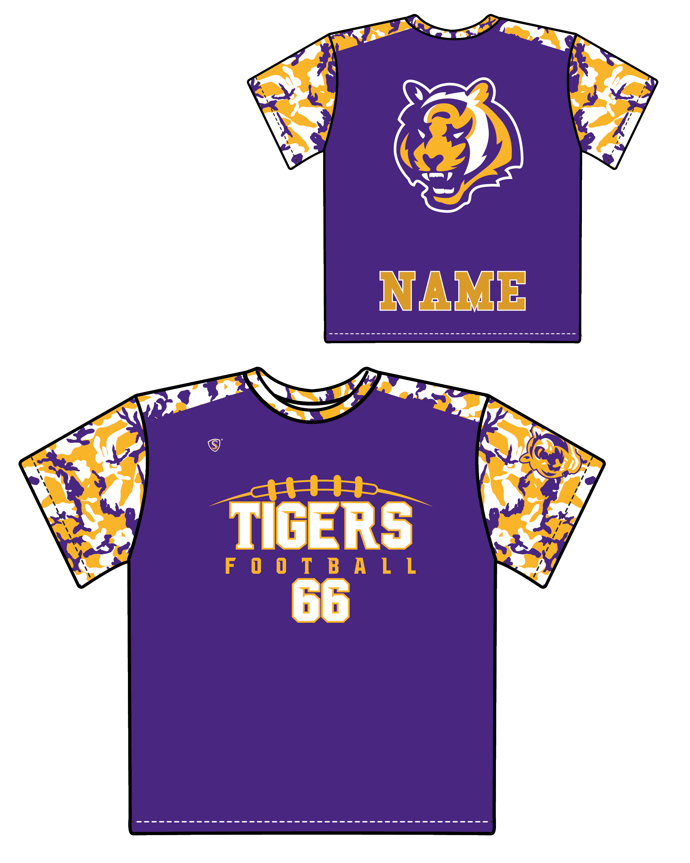 Custom Sublimated Shooter Shirt - Tigers 2