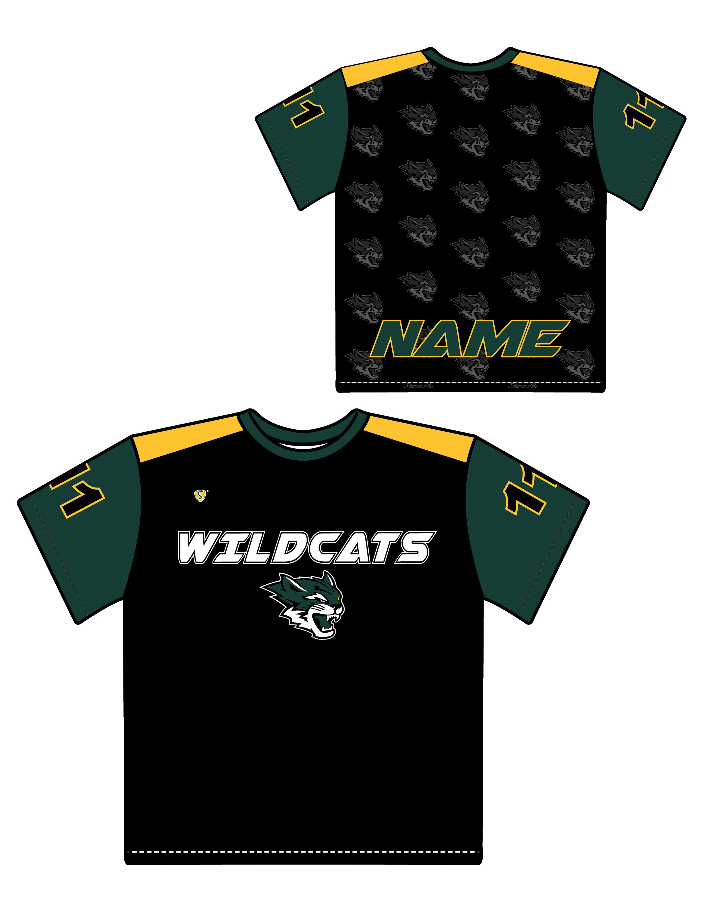 Custom Sublimated Shooter Shirt - Wildcats 1