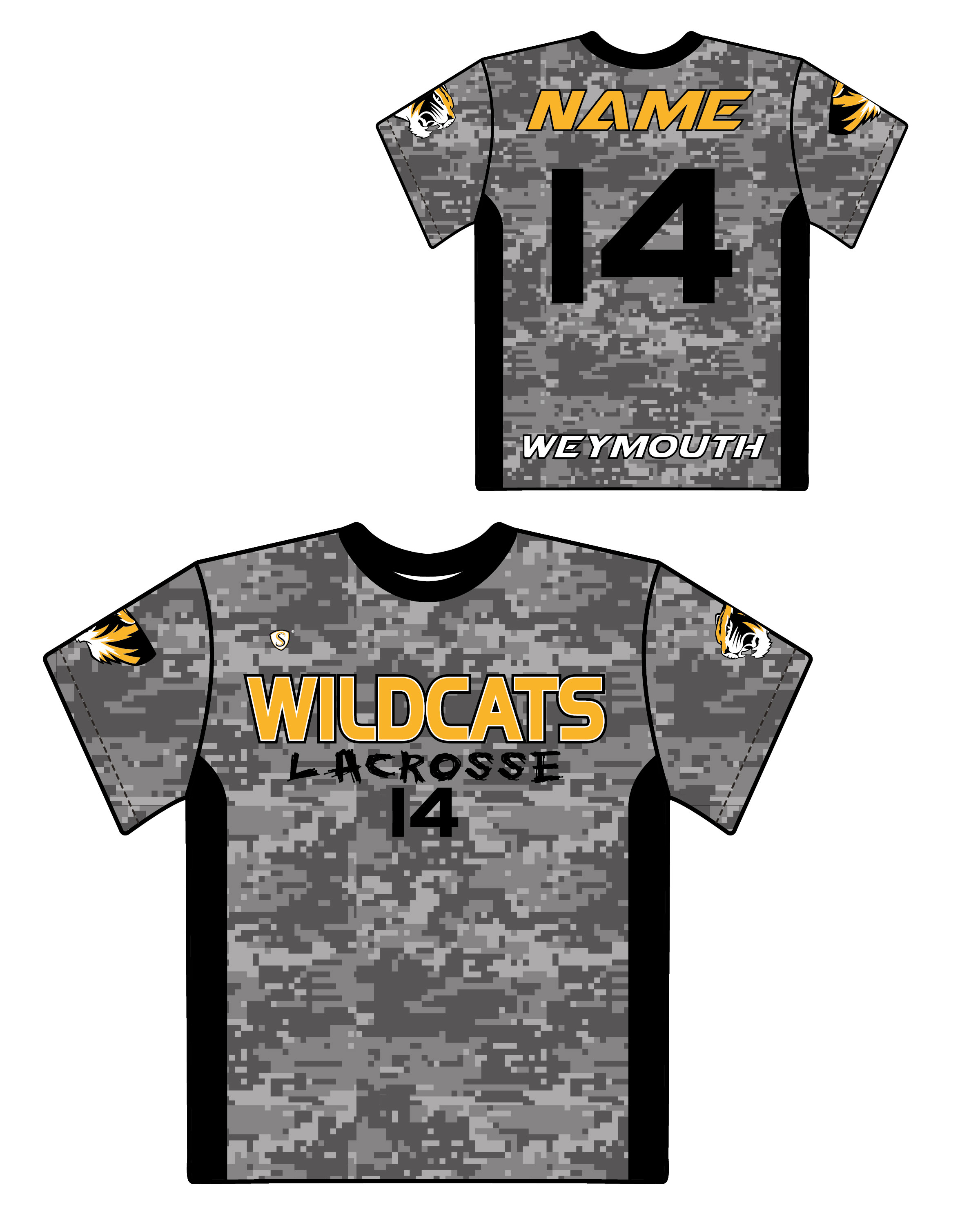Custom Sublimated Shooter Shirt - Wildcats 2
