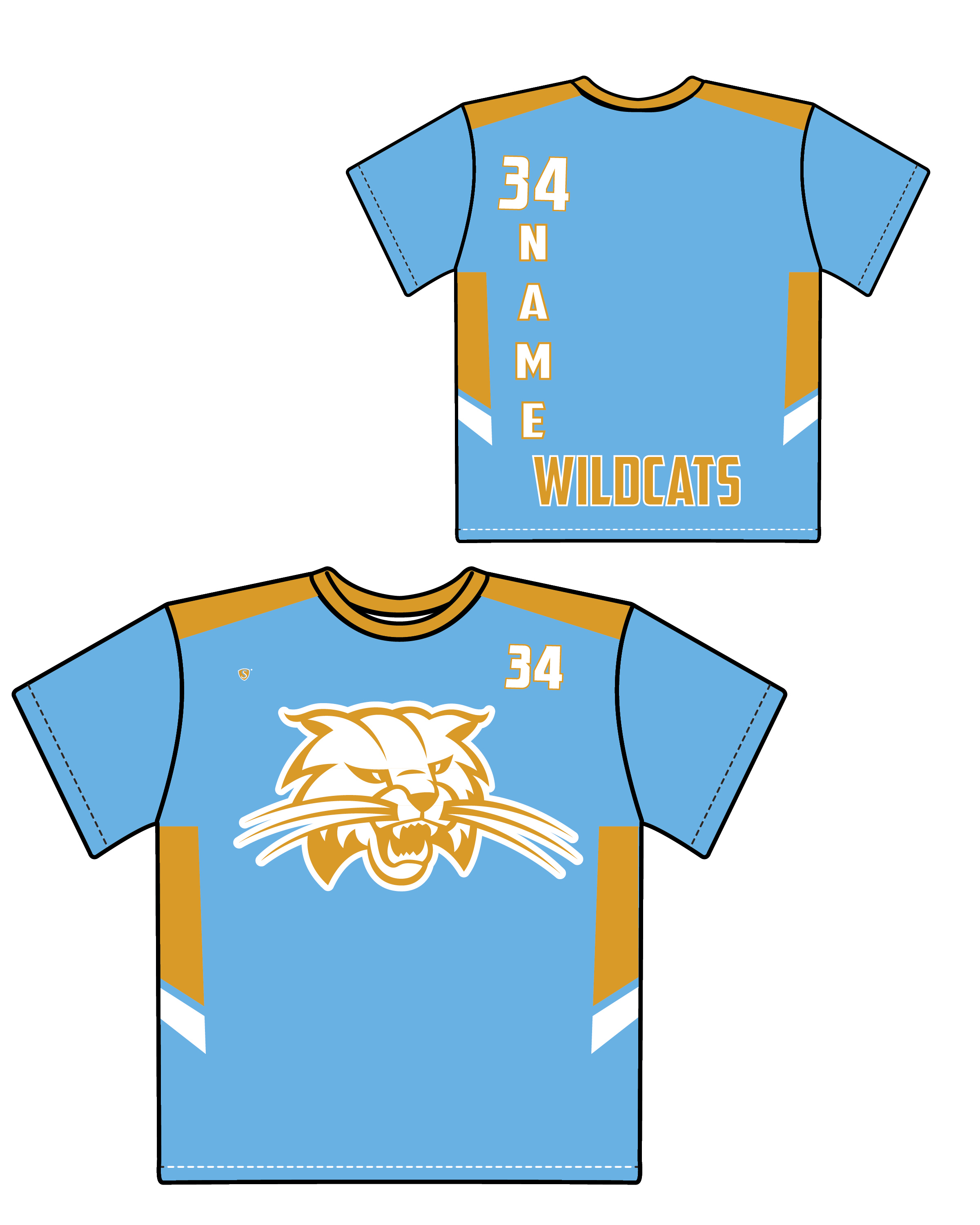 Custom Sublimated Shooter Shirt - Wildcats 4