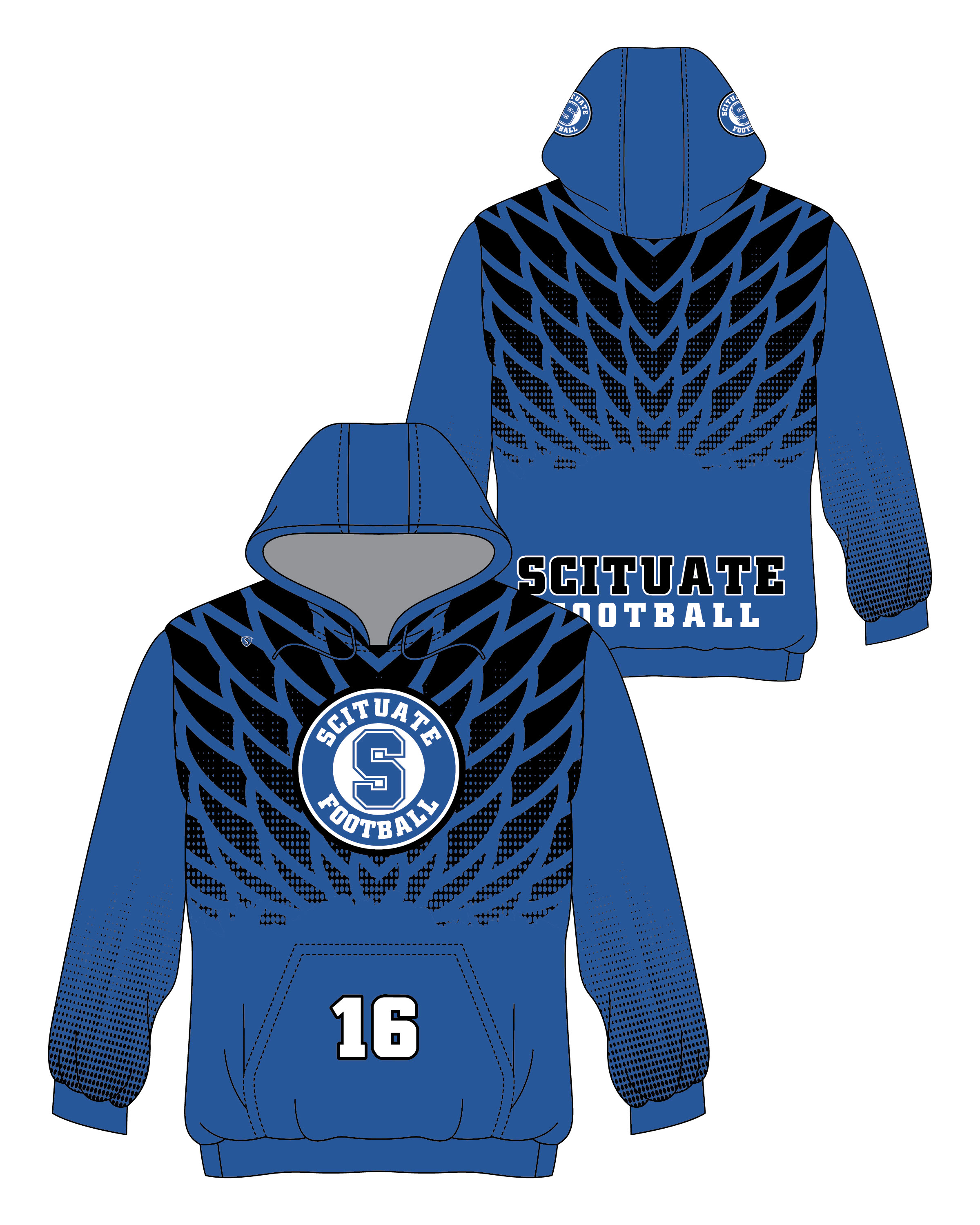 Custom Sublimated Hoodie - Scituate