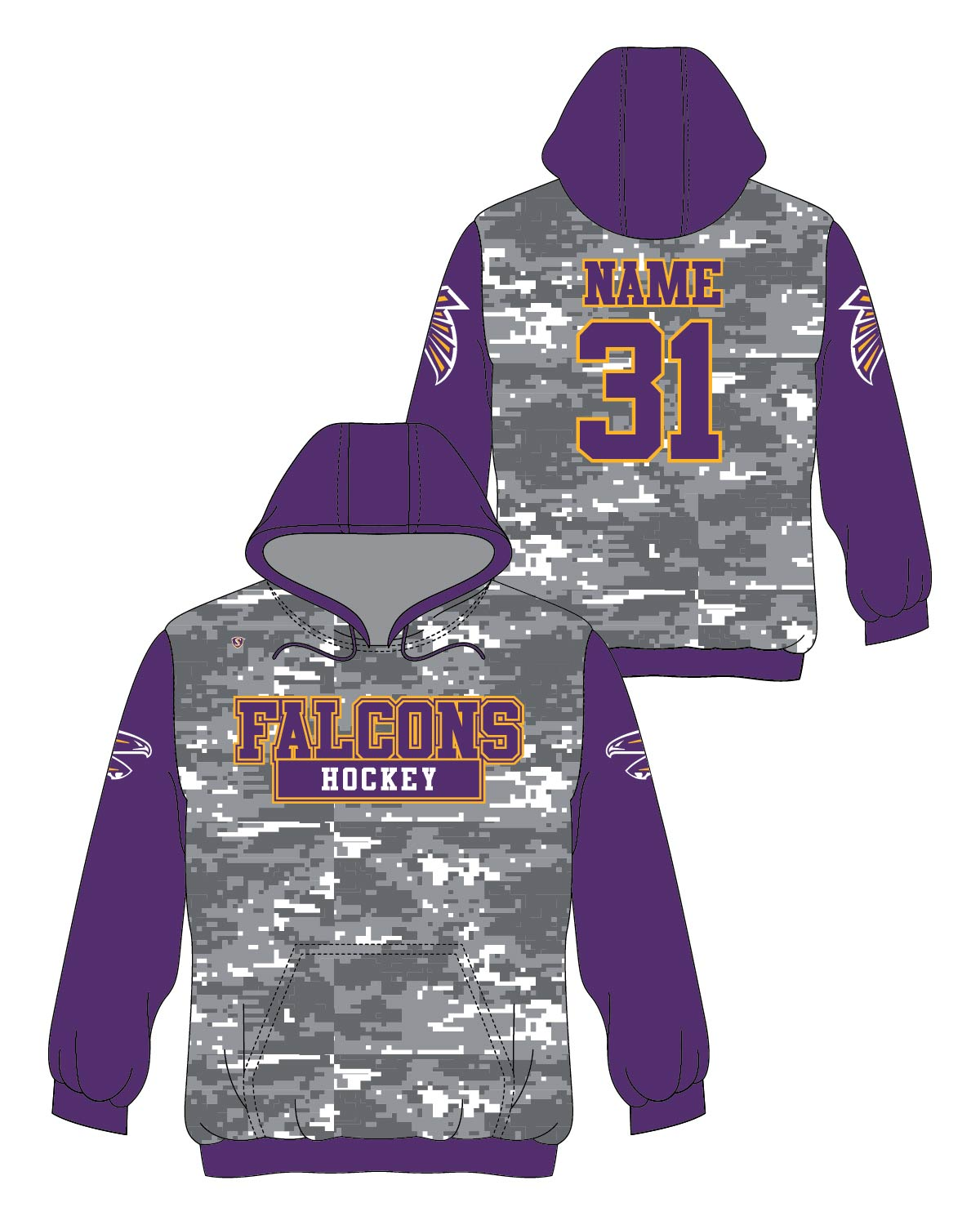 Custom Sublimated Hoodie - Falcons