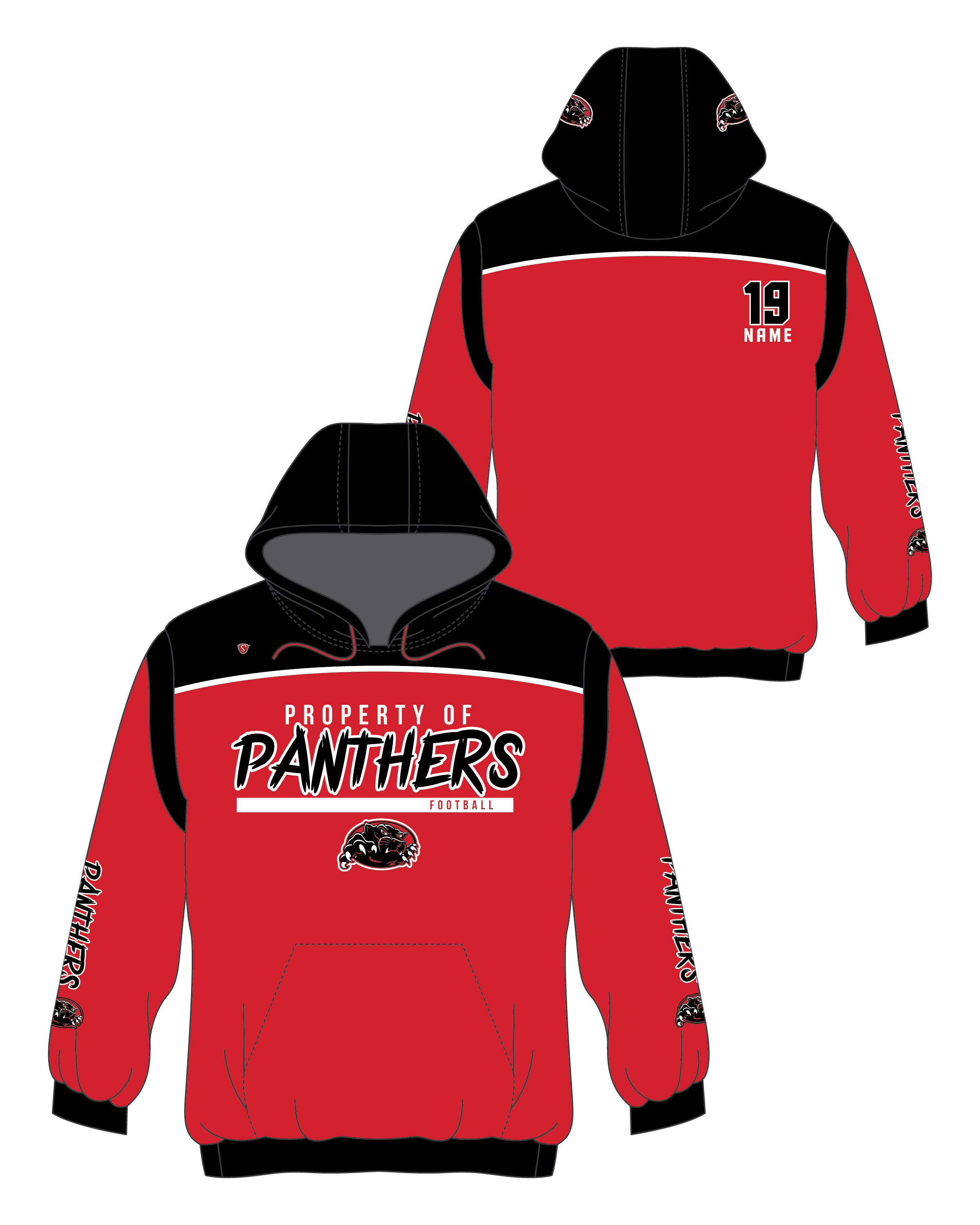 Custom Sublimated Hoodie - Panthers