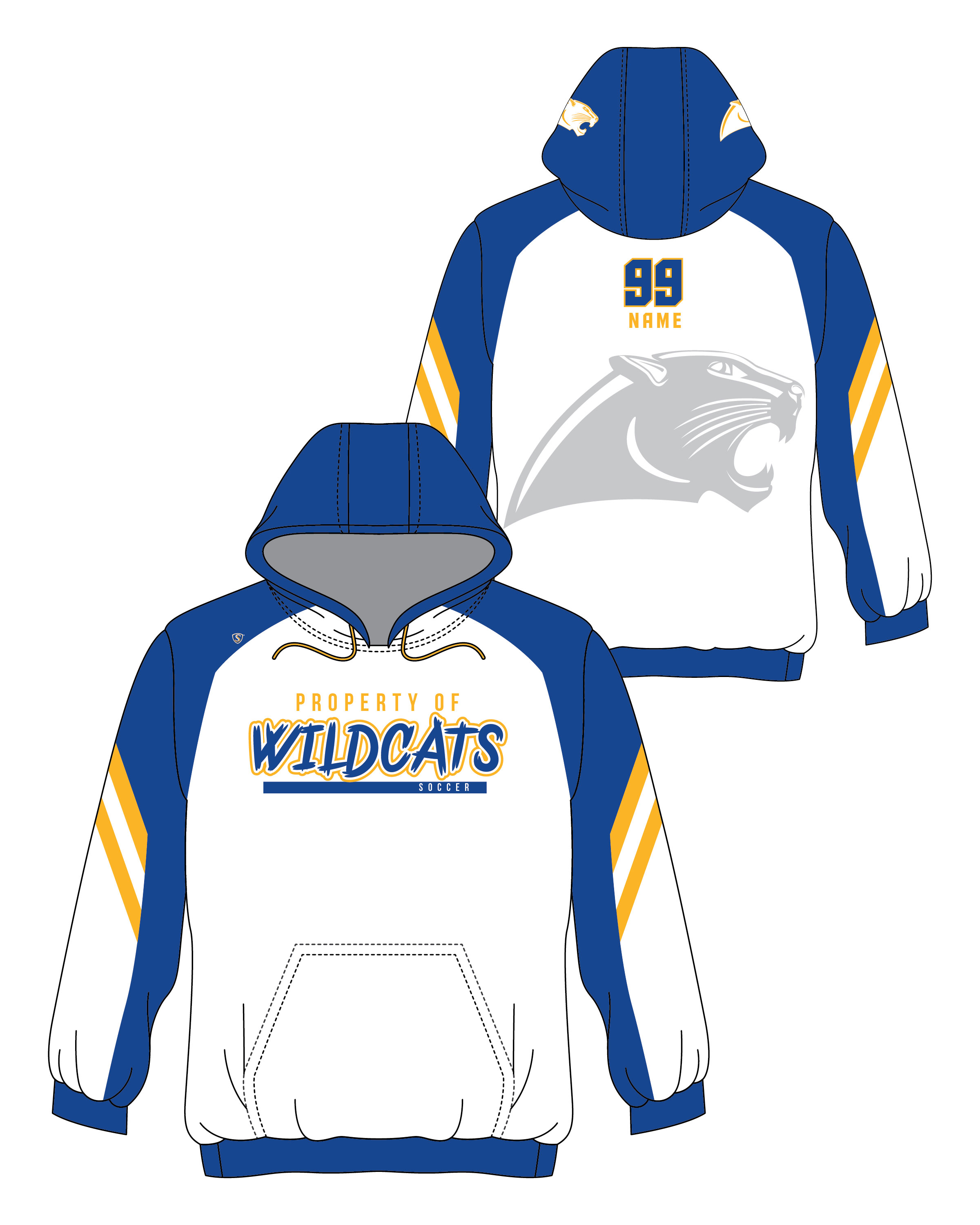 Custom Sublimated Hoodie - Wildcats