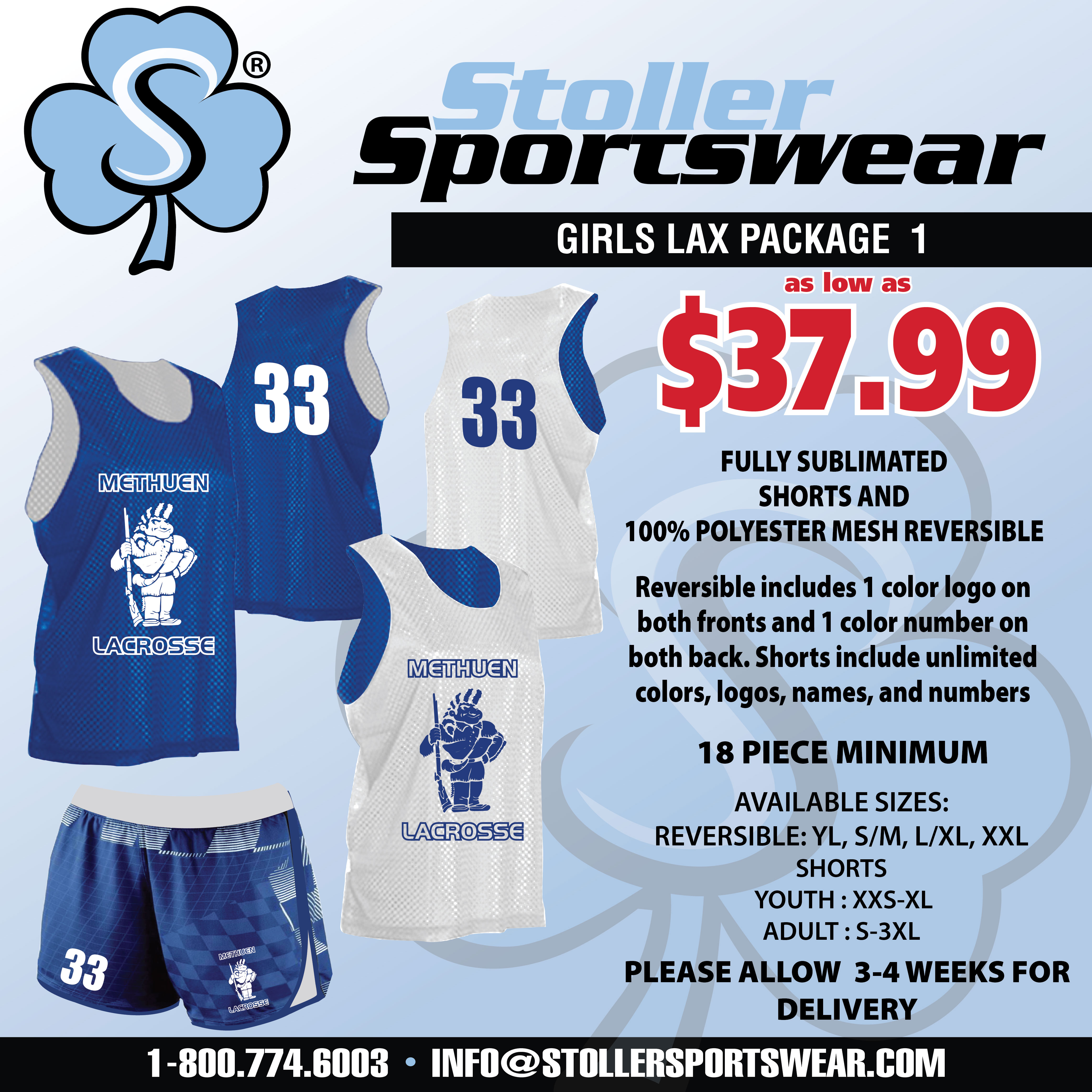 Girls Lax Mix & Match Package 1