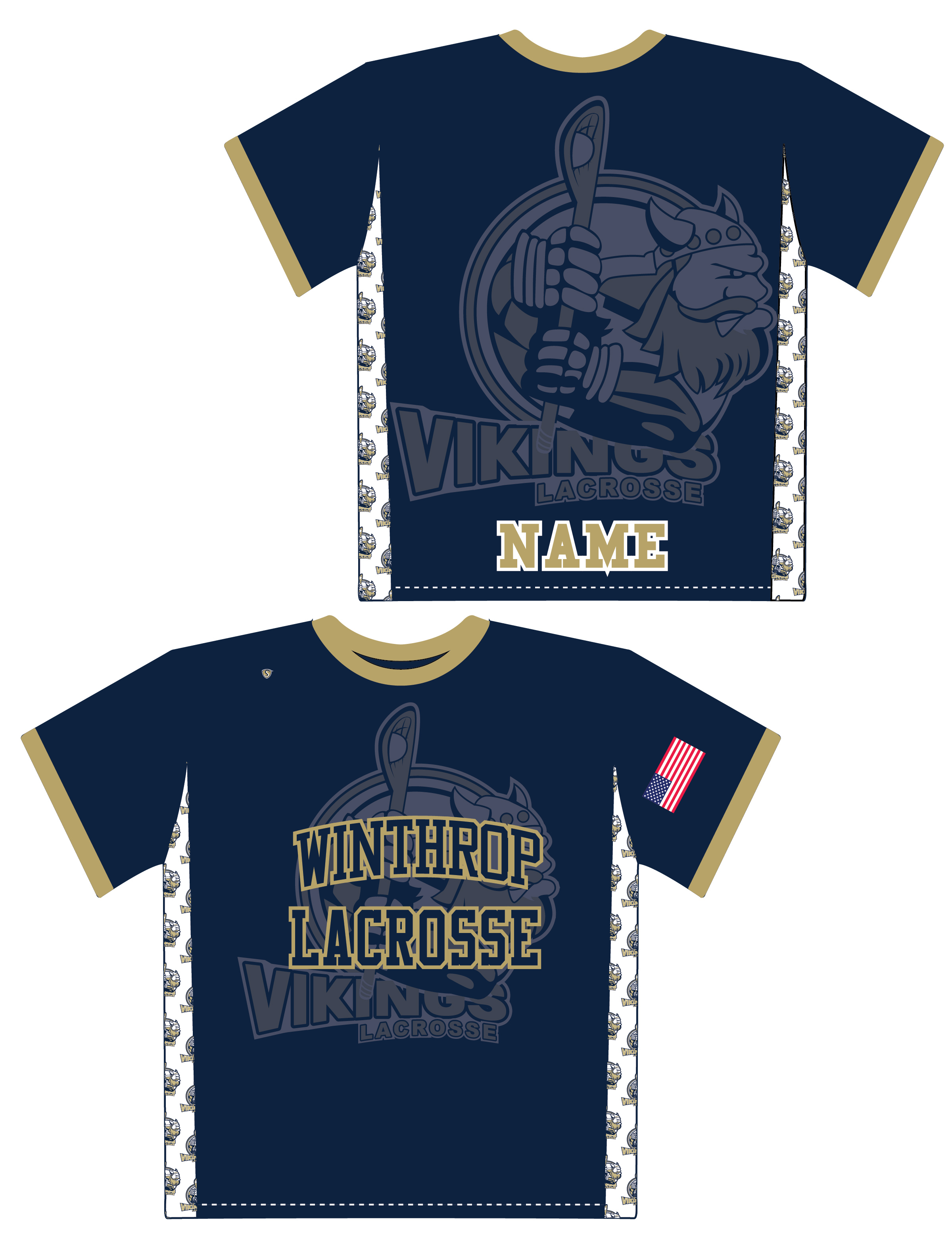 Custom Sublimated Shooter Shirt - Winthrop