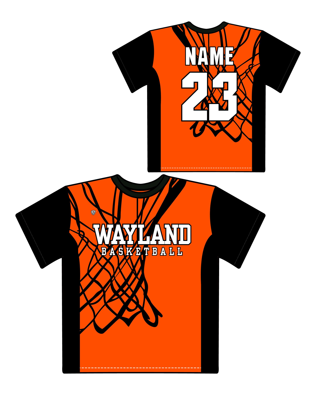 b7e56b83c7d Wayland Youth Basketball Custom Nothing But Net Sublimated Shooter Shirt  ***OPTIONAL***